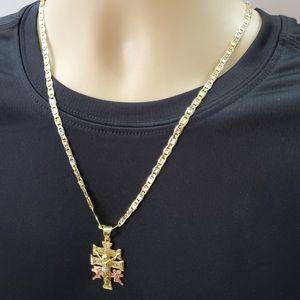 Men Women Gold Plated Caravaca Crucifix Necklace